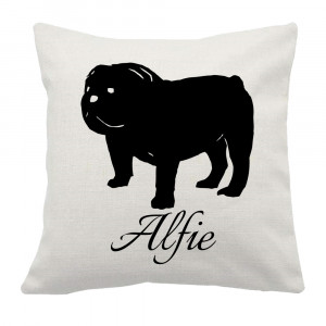 Personalised Bulldog Cushion