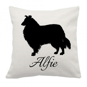Personalised Collie Cushion