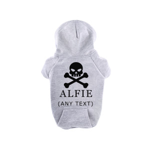 Grey Personalised Hooded...