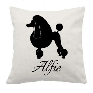 Personalised Poodle Cushion