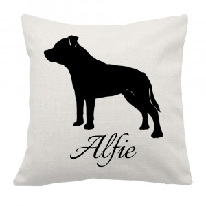 Personalised Staffy Cushion