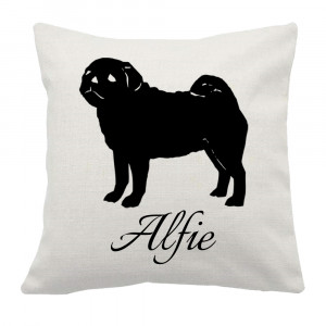 Personalised Pug Cushion