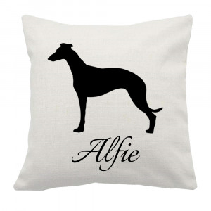 Personalised Whippet Cushion