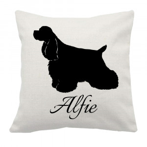 Personalised Spaniel Cushion