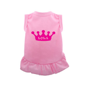 Personalised Pink Dog Dress...