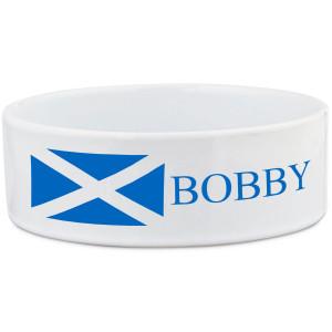 Scotland Saltire Flag Dog Bowl