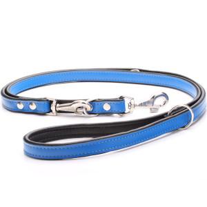 Adjustable Blue Leather Dog...