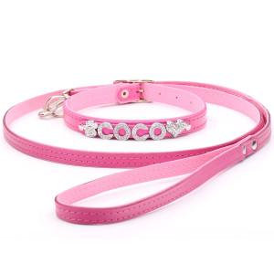 Baby Pink Dog Collar & Lead...