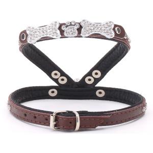 Small Brown Diamante Harness