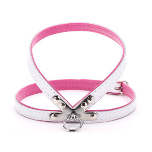 Small White & Pink Harness