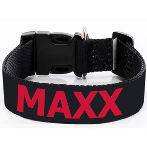 Extra Wide Black Dog Collar...