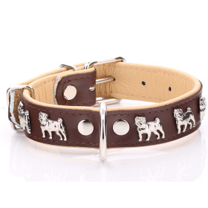 Brown & Beige Leather Pug...