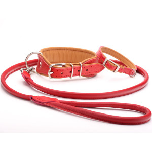 Handmade Red & Tan Leather...