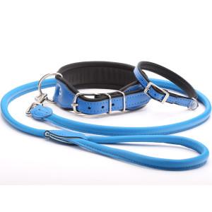 Handmade Blue Leather Dog...