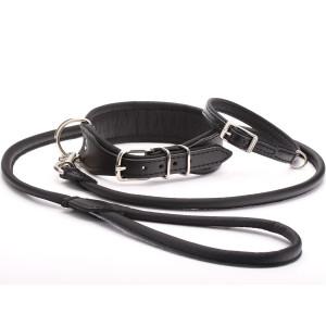 Handmade Black Leather Dog...