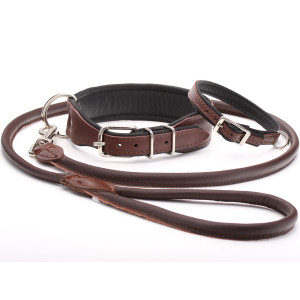 Handmade Brown Leather Dog...