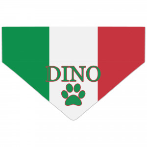 Italian Flag Dog Bandana