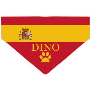 Spanish Flag Dog Bandana
