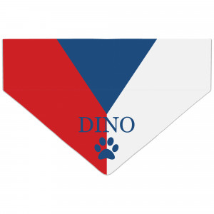 Czech Flag Dog Bandana