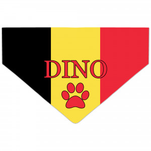 Personalised Belgium Flag...
