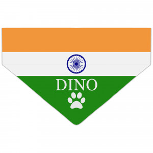 Personalised India Flag Dog...