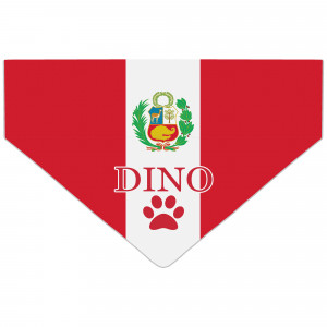 Personalised Peru Flag Dog...