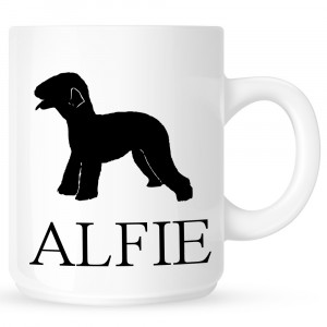 Personalised Bedlington terrier Coffe Mug