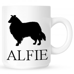 Personalised Collie Coffe Mug