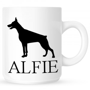 Personalised Doberman Pincher Coffe Mug