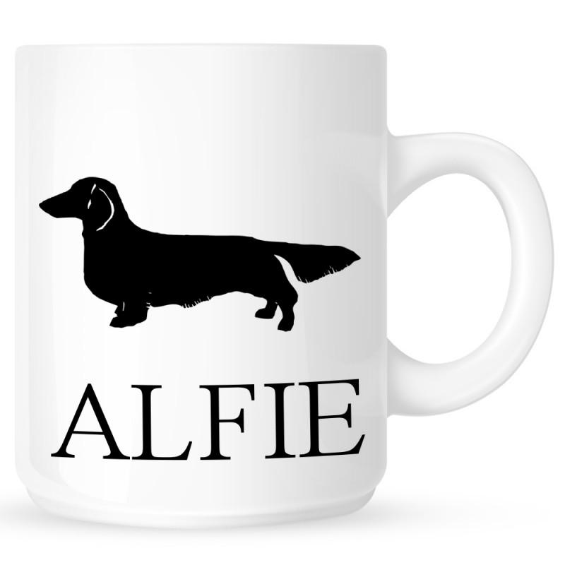 Personalised Long Haired Dachshund Coffe Mug