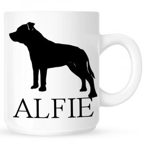 Personalised Staffordshire Bull Terrier Coffe Mug