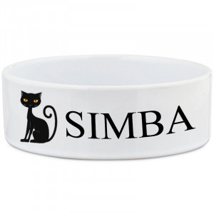 Personalised Cat Bowl with...