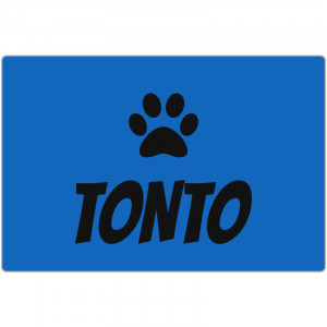 Personalized Blue Dog Bed