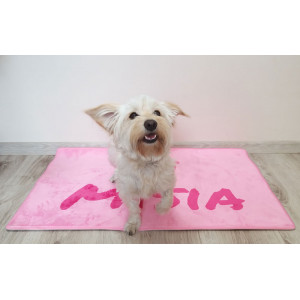 Personalized Pink Dog Bed