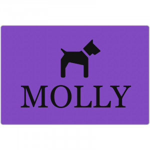 Personalized Purple Dog Bed