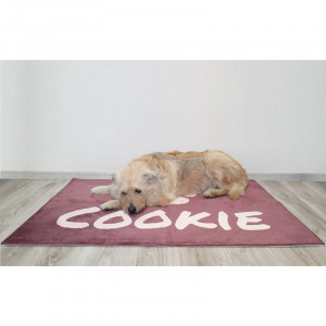 Personalized Brown Dog Bed