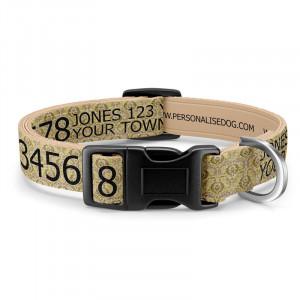 Ornate Beige Dog Collar...