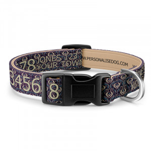 Ornate Purple Dog Collar...