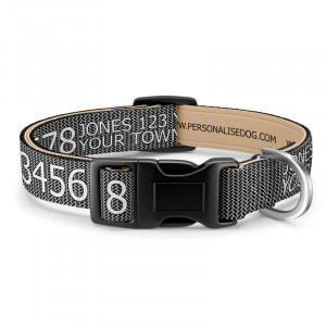 Herringbone Dog Collar with...