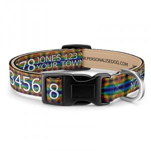 Tie Dye Dog Collar with Print