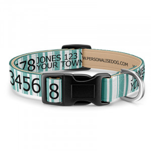 Green Striped Dog Collar...