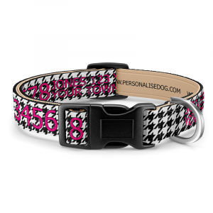 Houndstooth Dog Collar with...