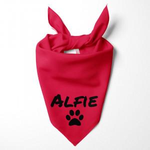 Personalised Red Dog Bandana