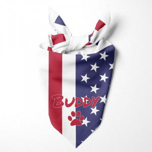 US Flag Dog Bandana