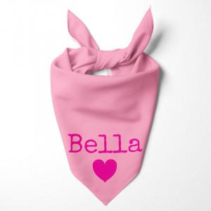 Personalised Pink Dog Bandana