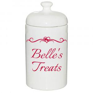 Treat Jar with Fancy Hearts