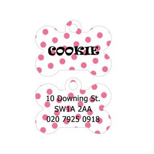 Pink Polka Dots Dog Tag