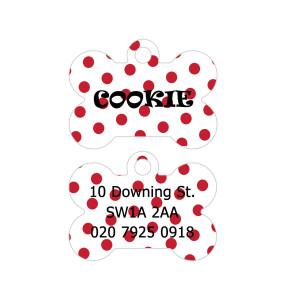 Red Polka Dots Dog Tag