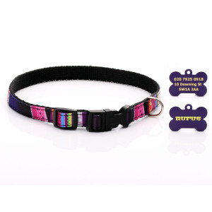Black & Purple Mosaic Dog...