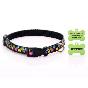Floral Pattern Dog Collar...